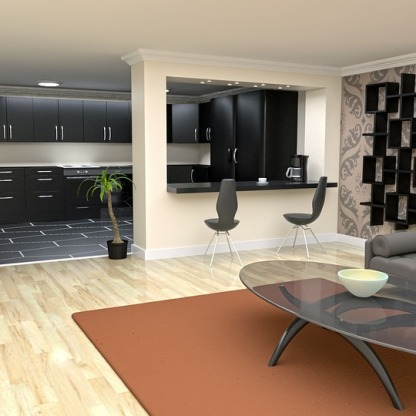 Residential interior visualization 3D