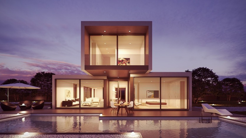 Residential house 3D visualization (render) example